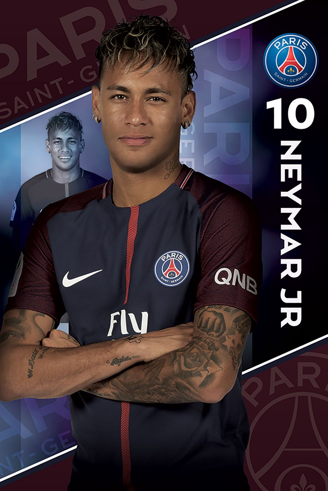 PSG (Neymar 17/18) - plakat