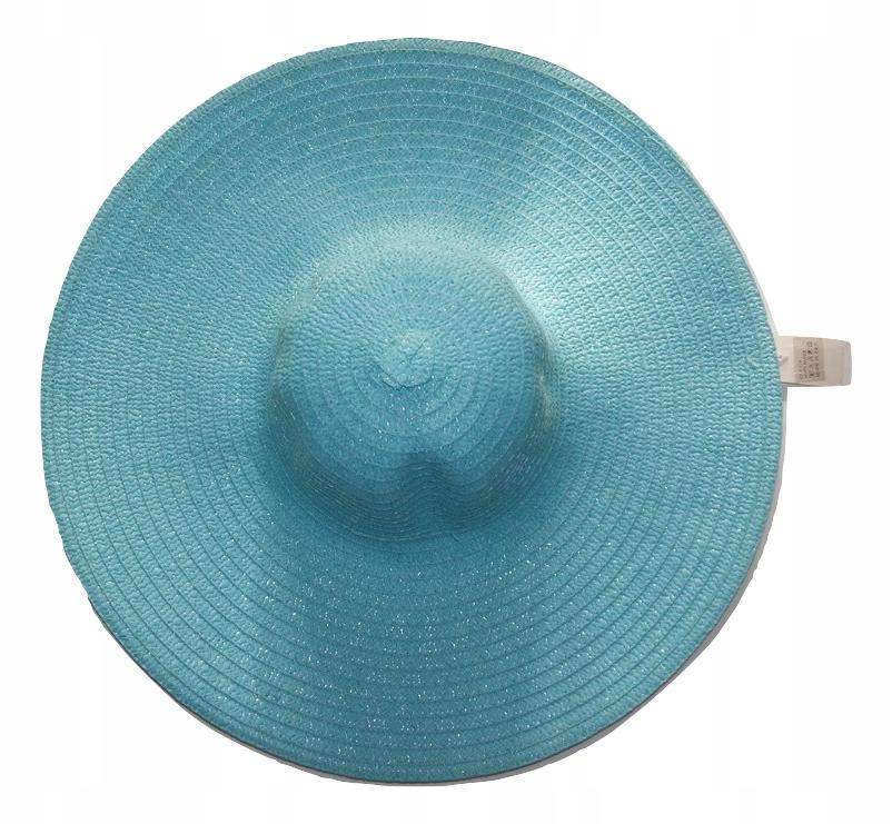 Kapelusz plażowy letni niebieski