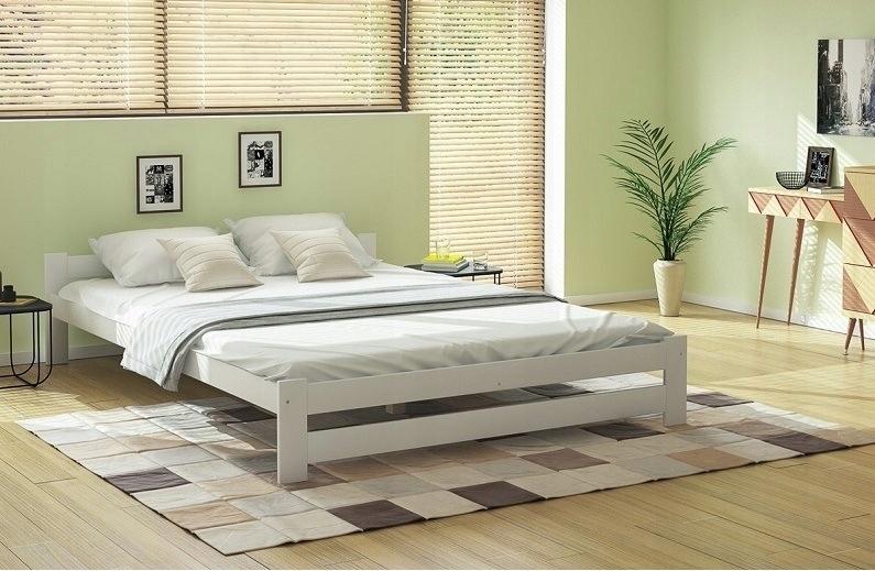 Outlet 345 łóżko Drewniane 180x200 Biały 7446316141 Oficjalne