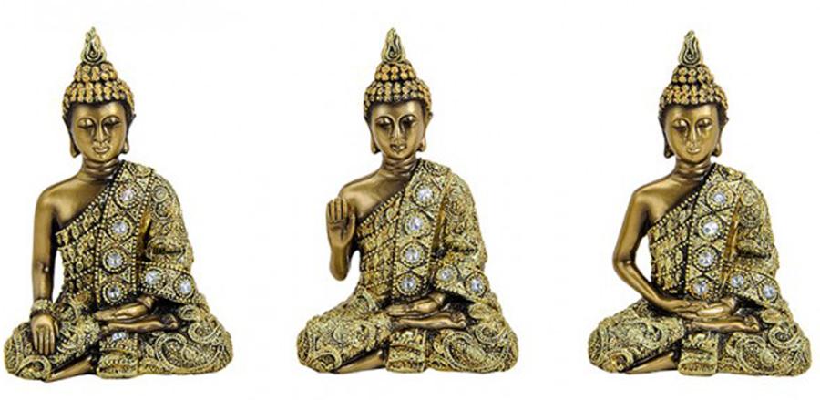 Budda figurka 14cm SUPER JAKOŚĆ 3 rodzaje do wybor