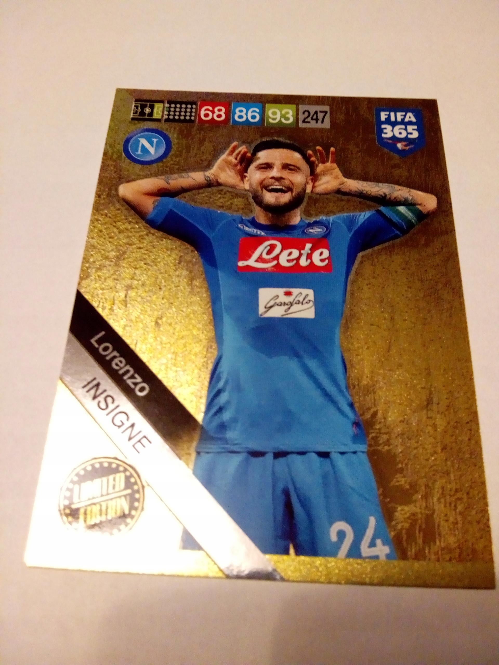 Karta limited Lorenzo Insigne - FIFA 365 2019