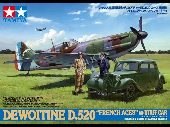 TAMIYA 61109 1:48 Dewoitine D.520 French Aces