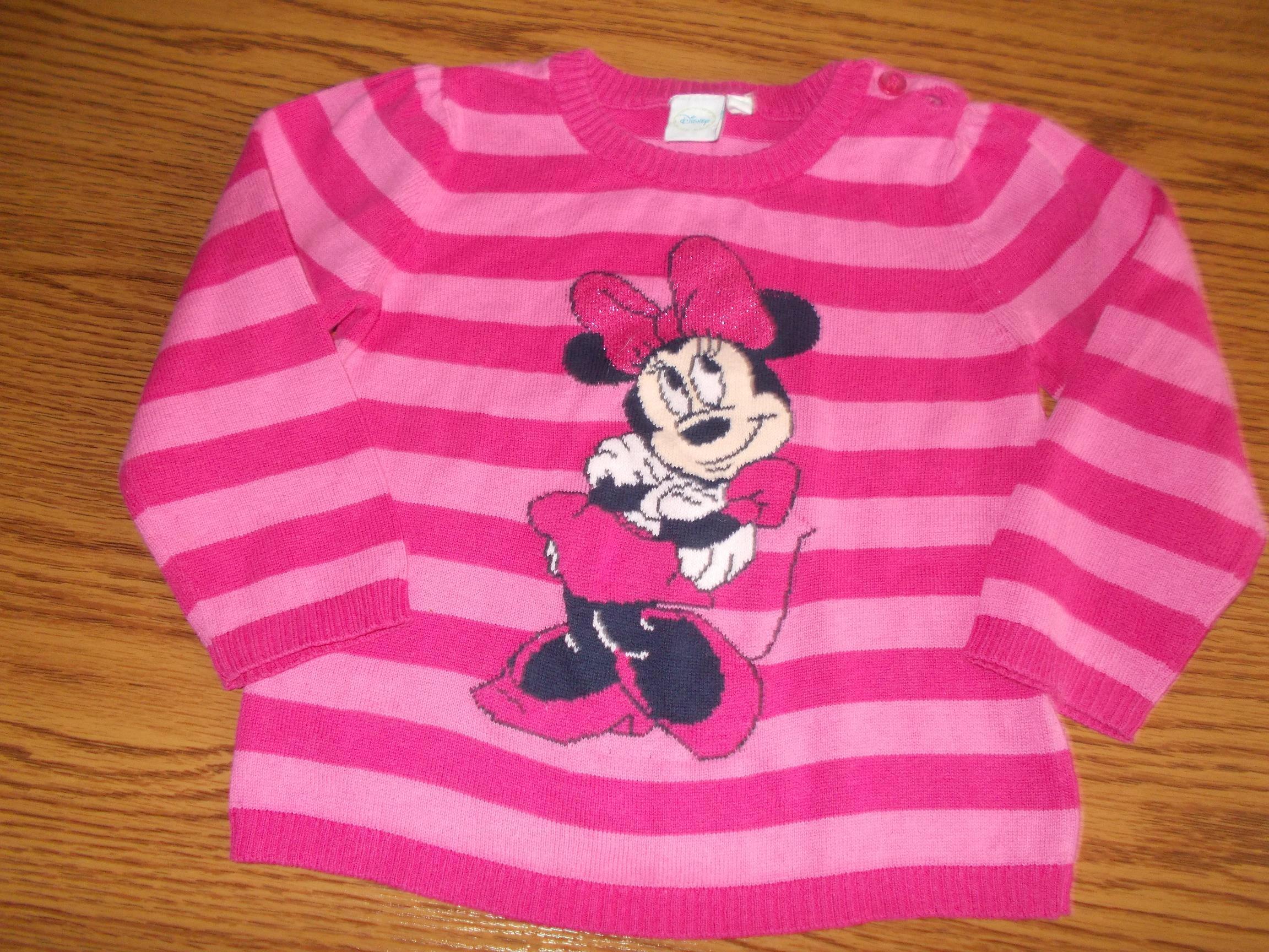 Disney sweterek z Myszka Minnie 86cm
