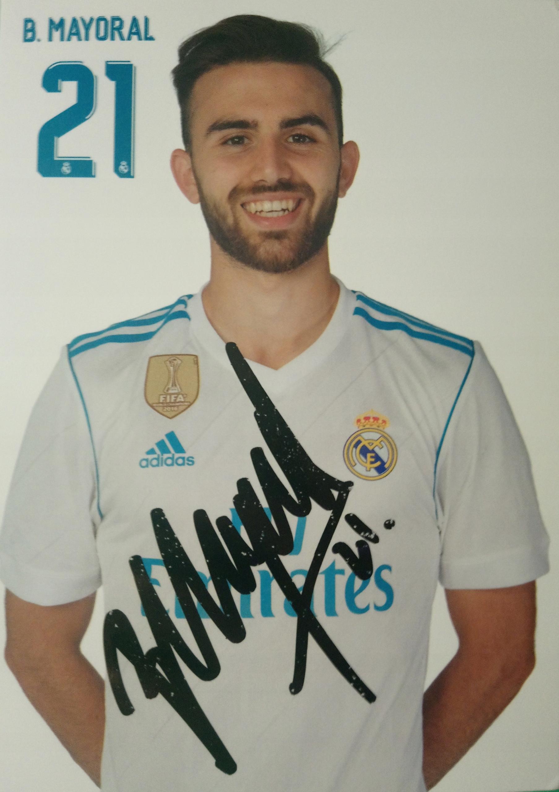 Autograf Borja Mayoral Real Madryt Levante UD