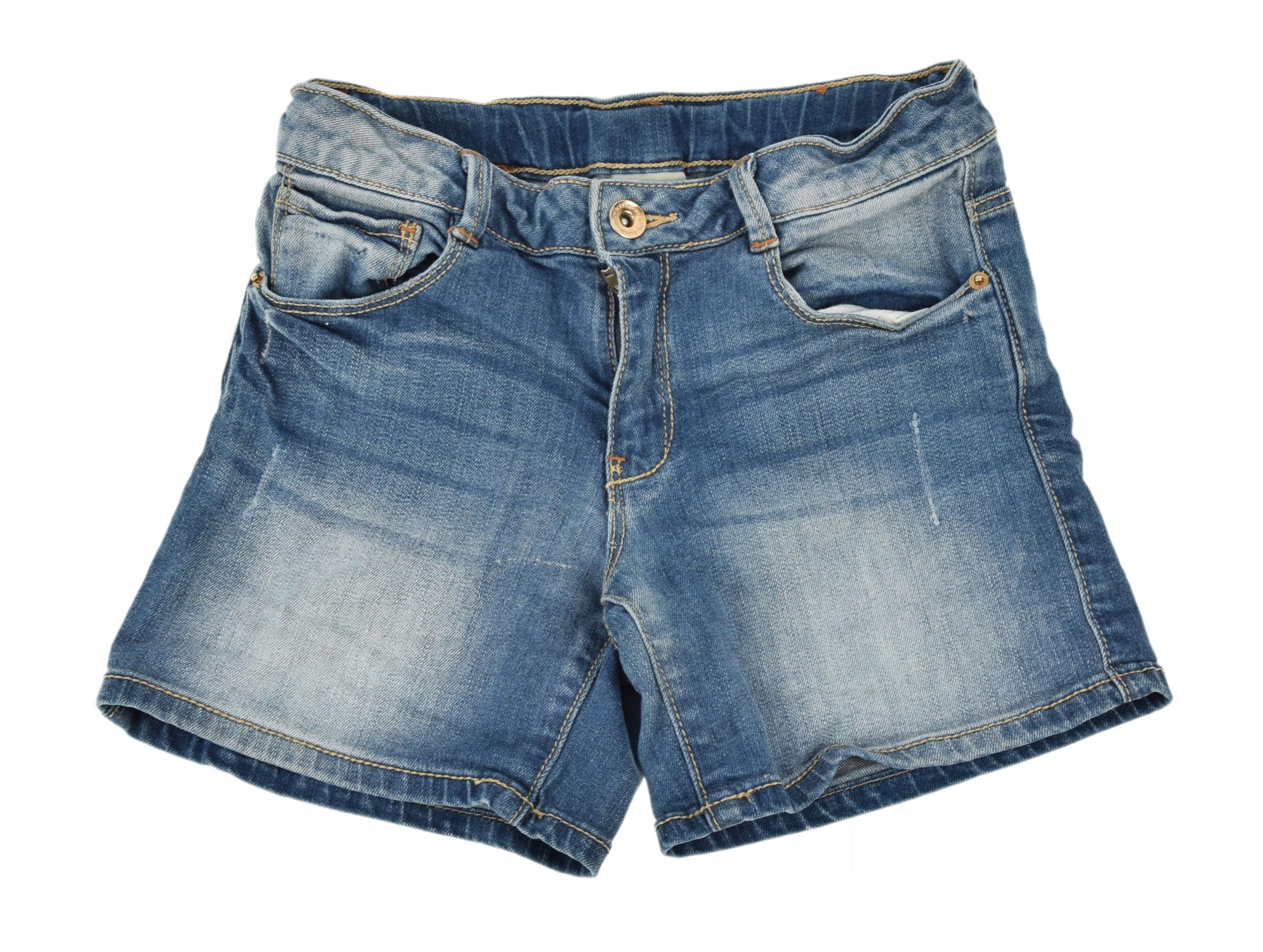 ZARA jeansowe SZORTY spodenki 7-8LAT/128