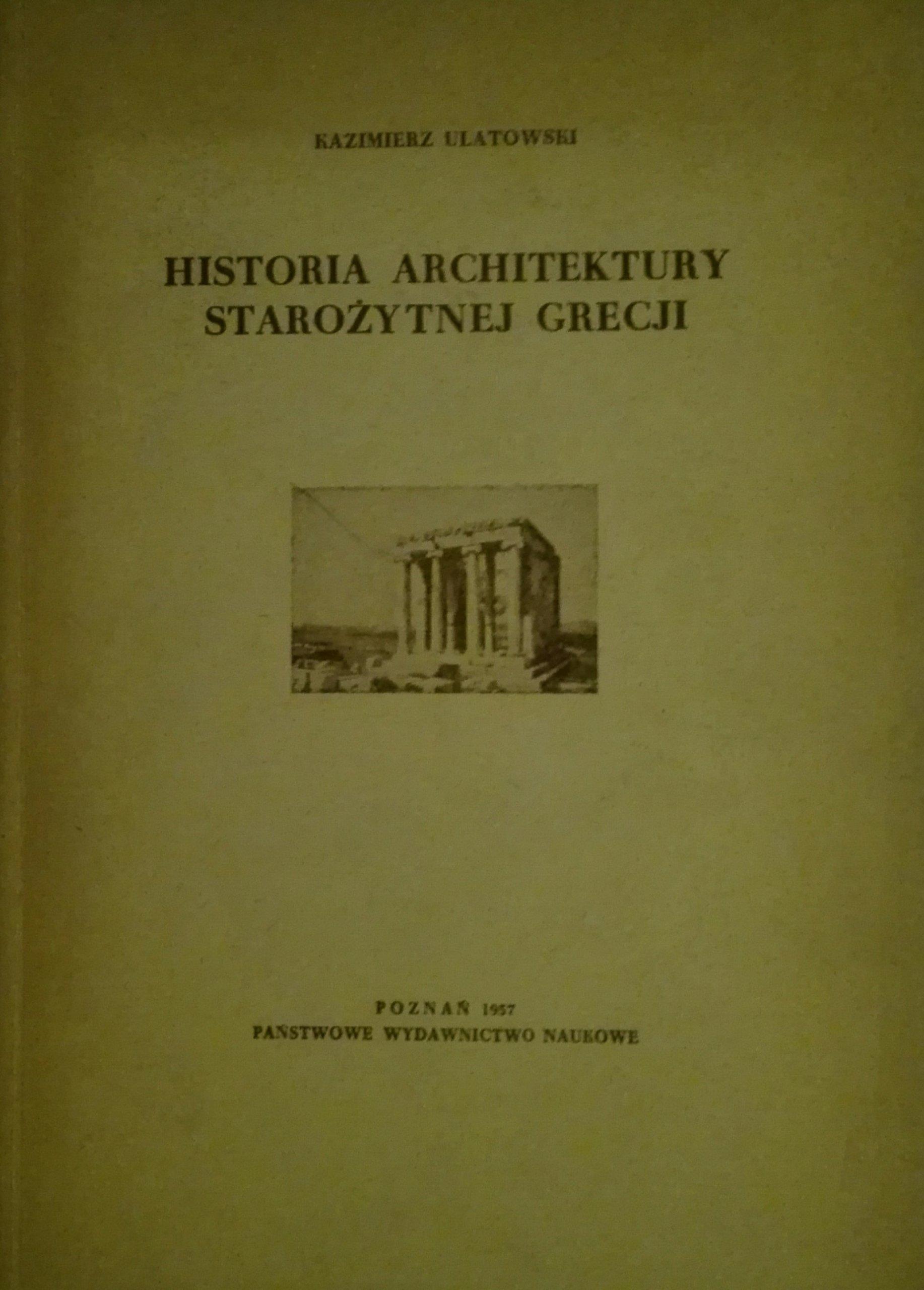 Historia architektury starożytnej Grecji Ulatowski