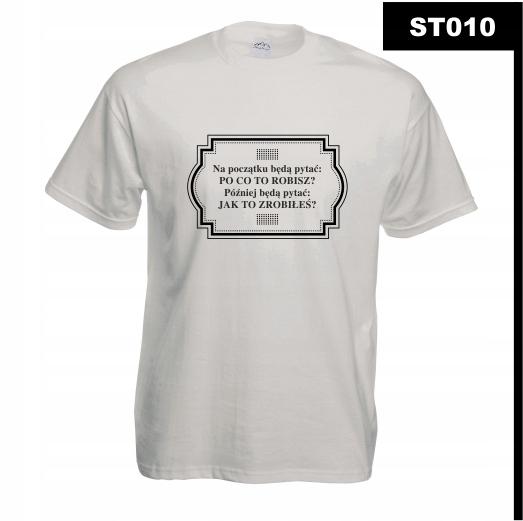 Koszulka z nadrukiem SPORT DO BIEGANIA ST010M B3XL