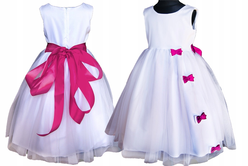 16eb7ab131 PL Cudo.Tiulowa sukienka kokarda druhna 56 - 6942779294 - oficjalne ...