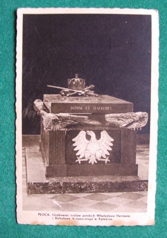 Płock Grobowiec królów polskich przedwojenna poczt
