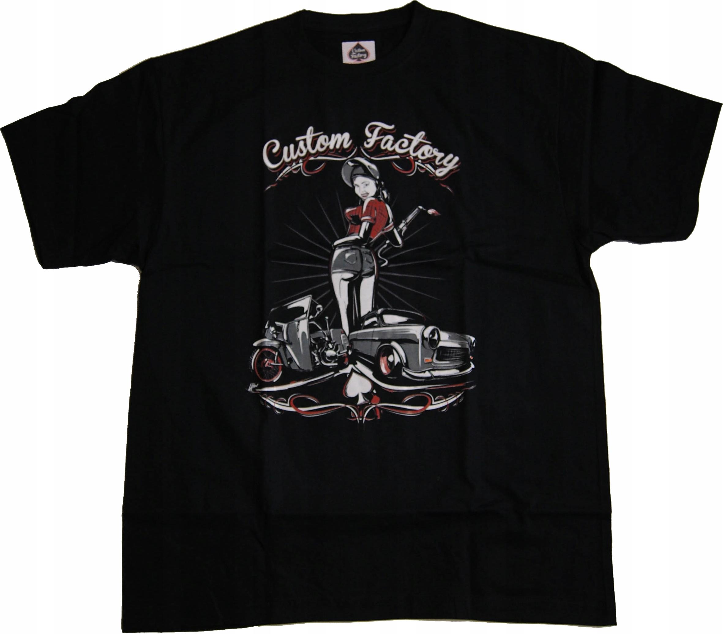 CUSTOM FACTORY Tshirt Trabant PINUP Rozmiar: XXL