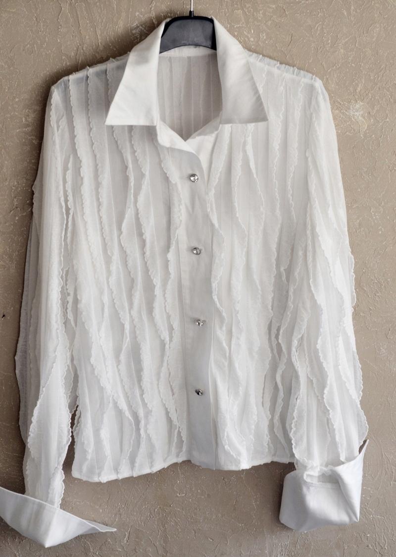 EWA MINGE biała efektowna bluzka 38 polecam