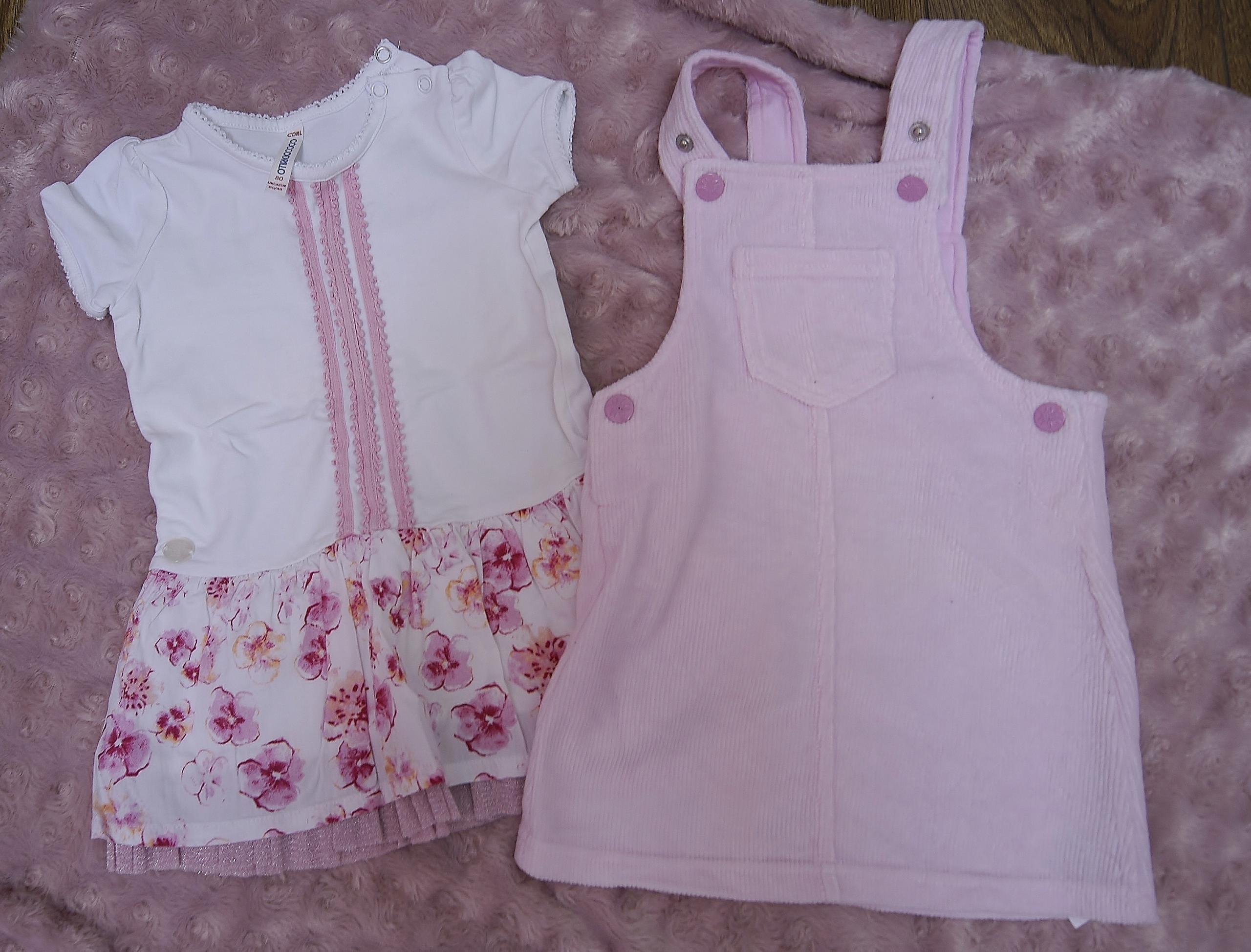 sukieneczki roz.80-86 -stan jak nowe