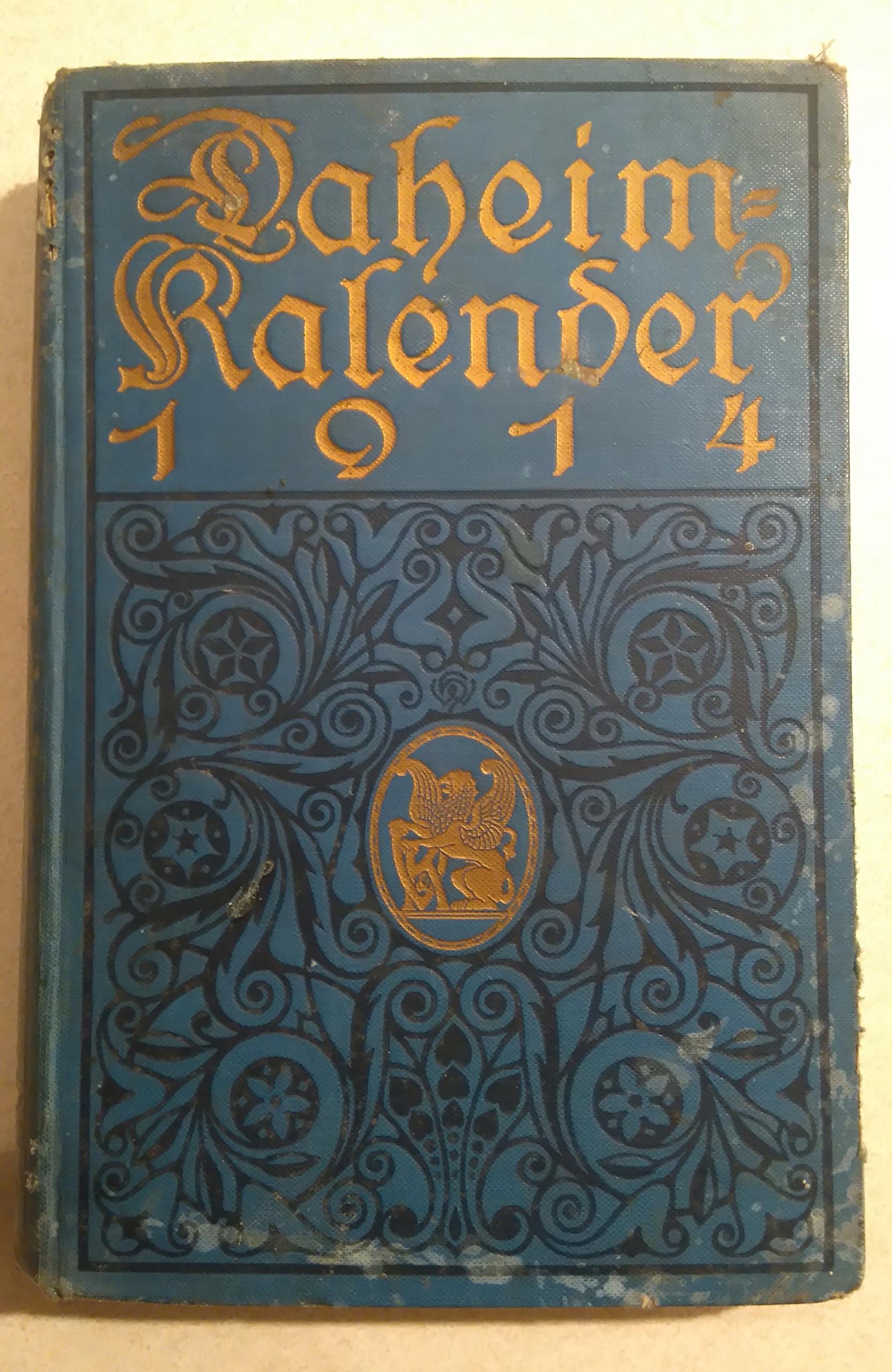 Daheim Kalender 1914, kalendarz domowy