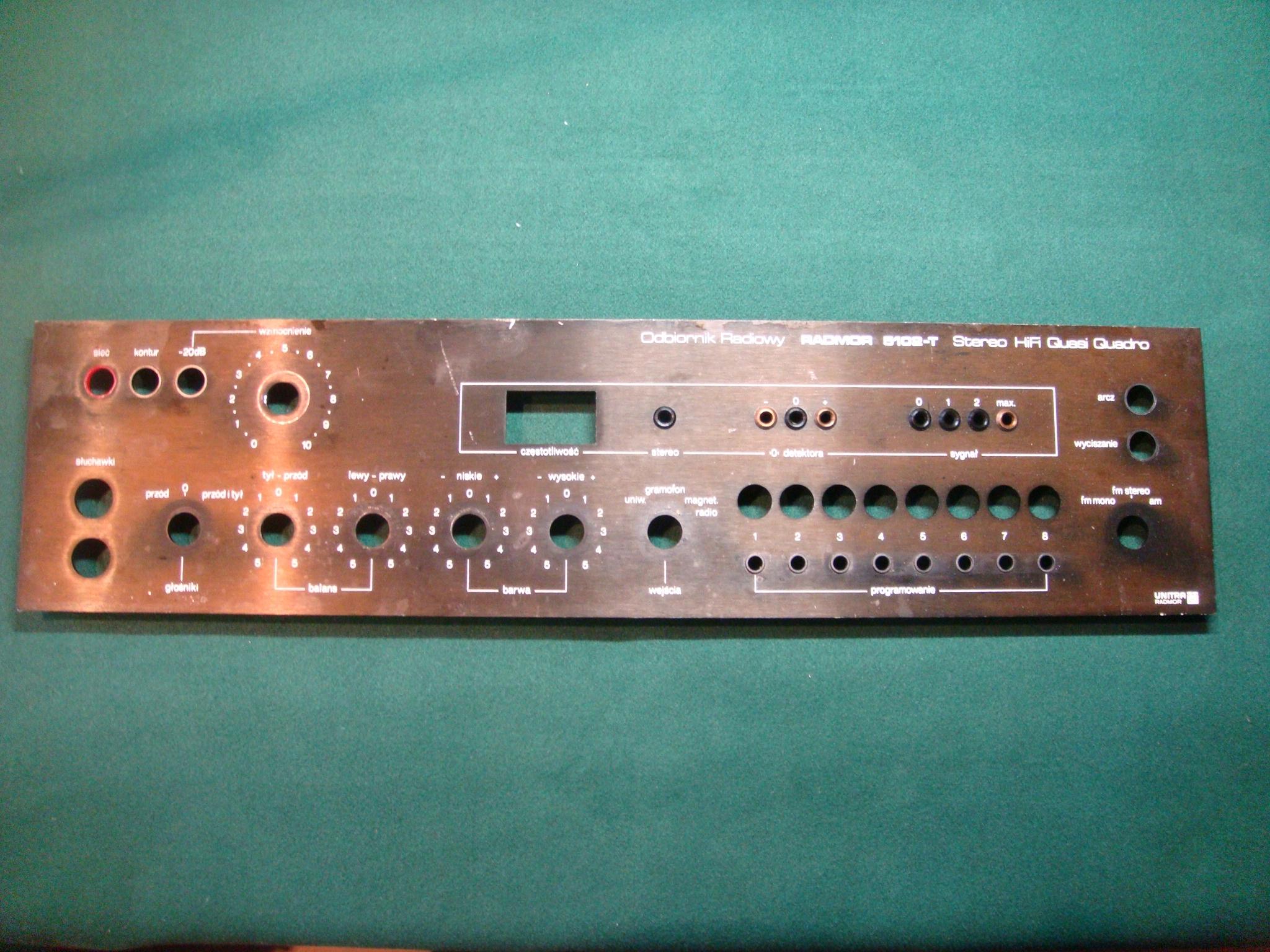 Radmor 5102T: panel uzbrojony do regeneracji.