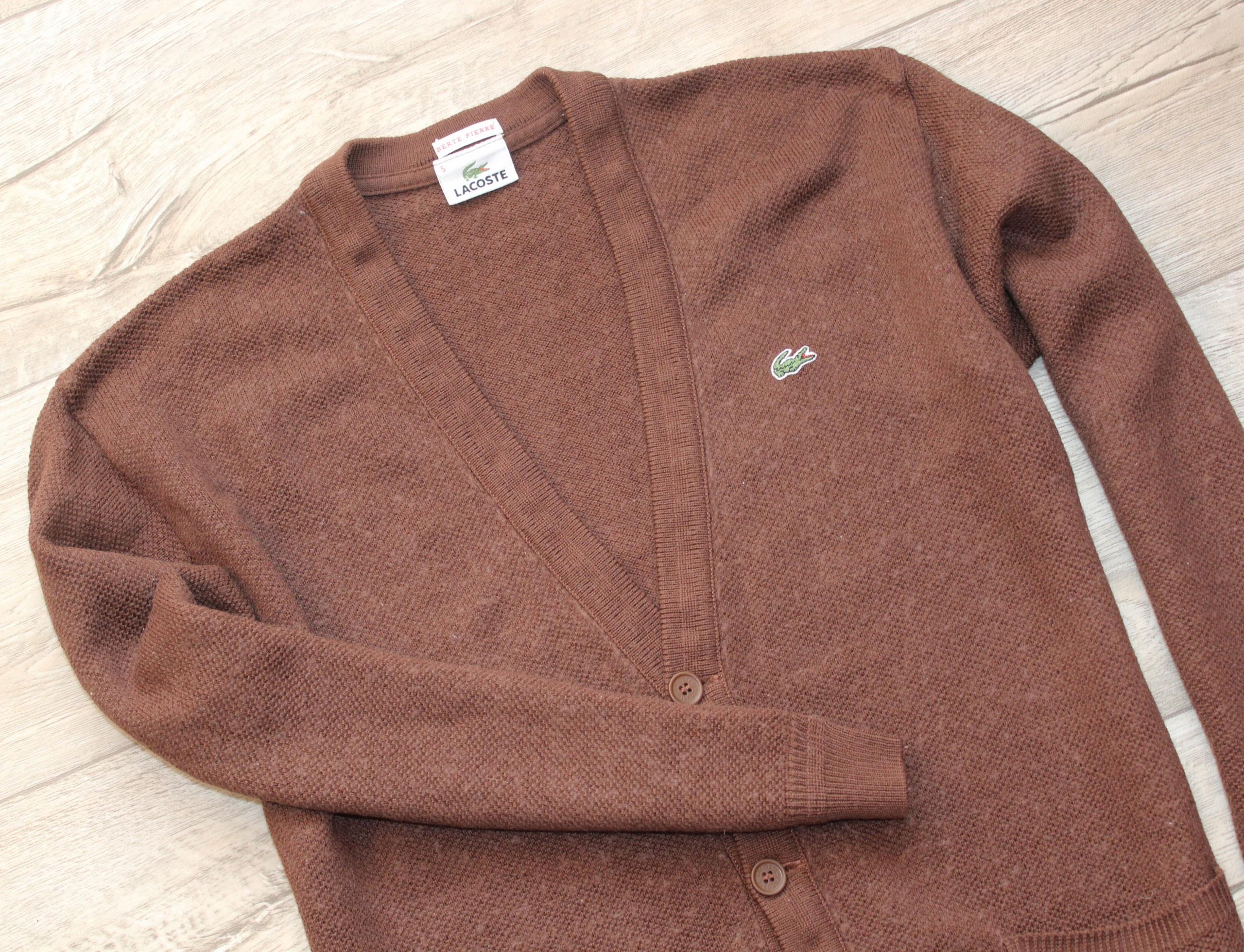 Męski Sweter Lacoste L 5 woolmark bdb wełna