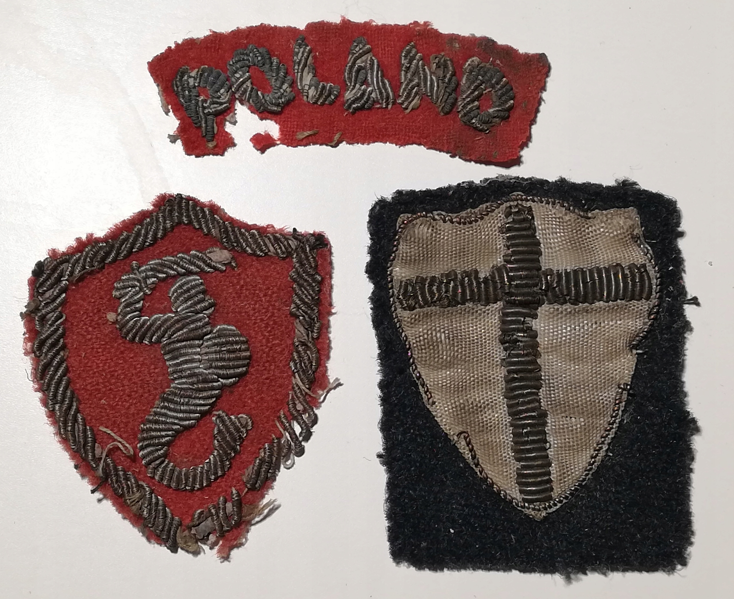 Oryginalne naszywki 8 Armia Bryt + 2 Korpus Polski