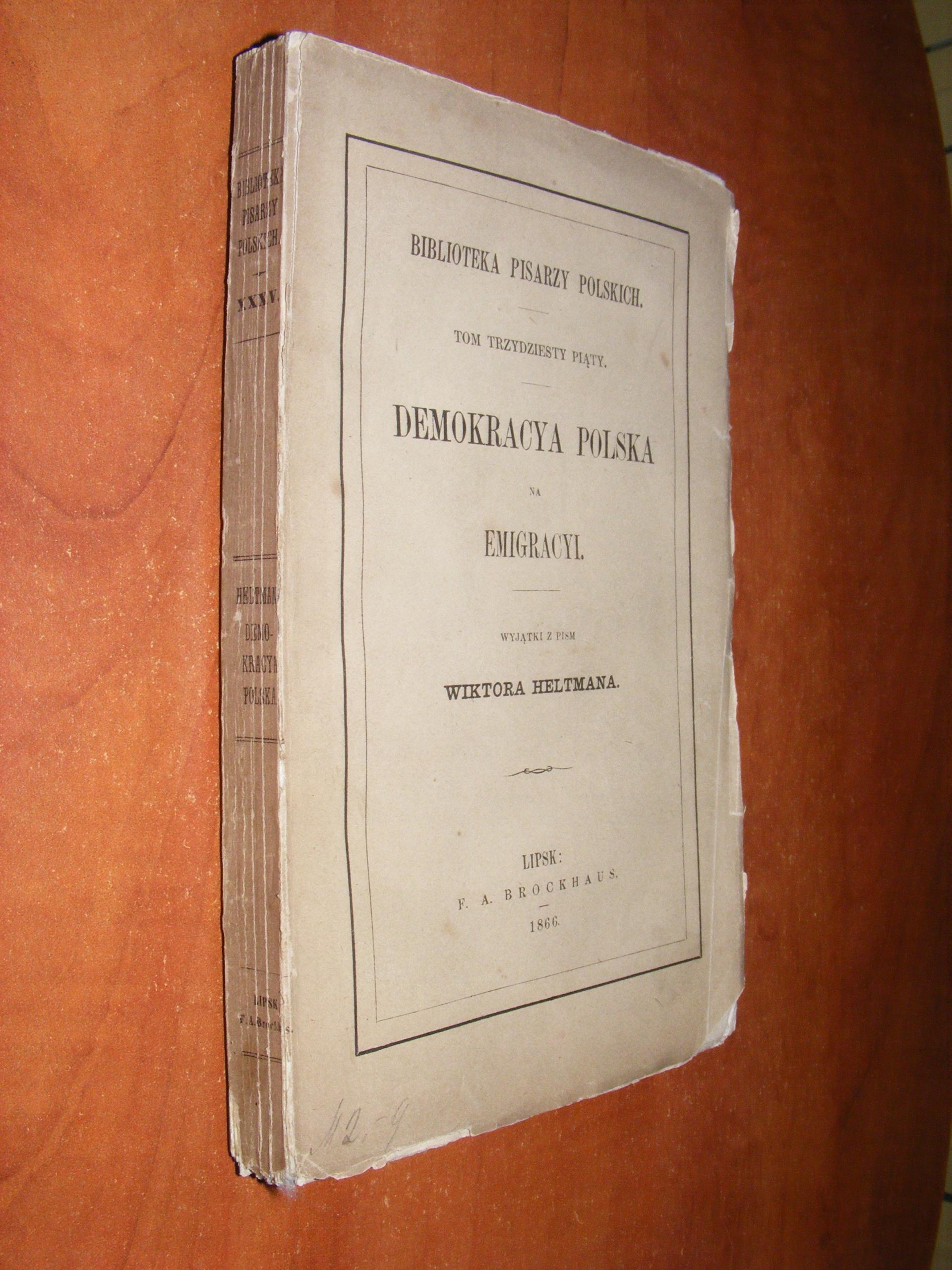 HELTMAN - DEMOKRACYA POLSKA NA EMIGRACJI 1866