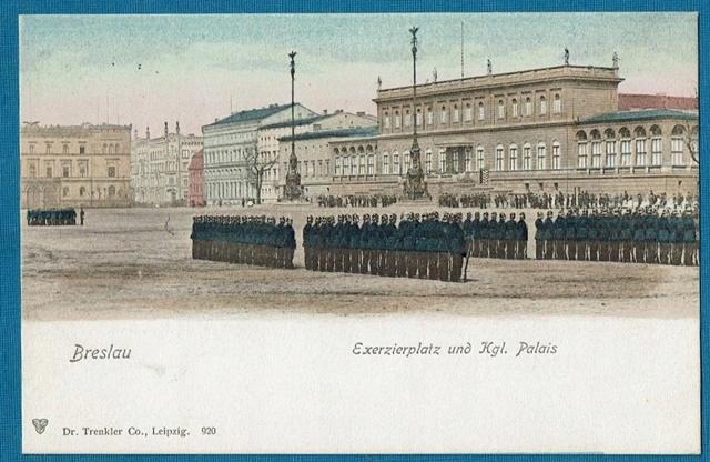 Wrocław. Breslau. Plac Wolności. Musztra. Trenkler