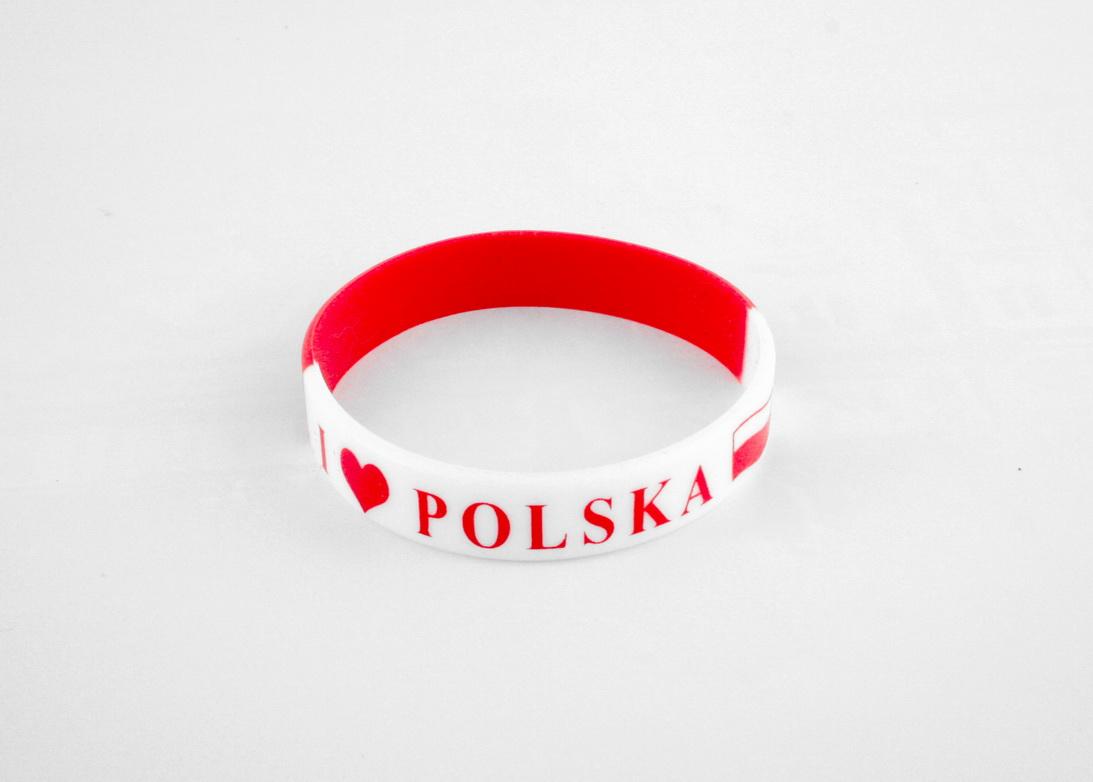 Bransoletka silikonowa Polska orzeł flaga opaska m