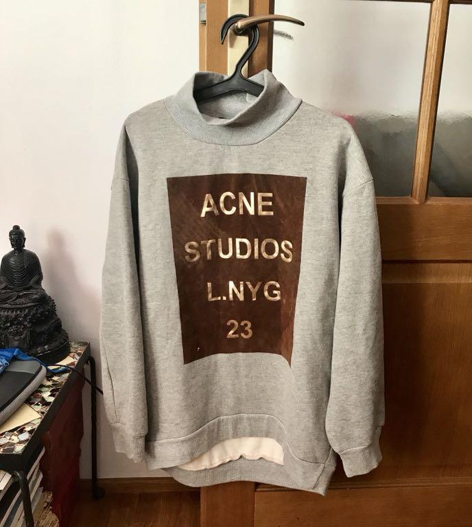 ACNE STUDIOS bluza nadruk minimal cos jedyna S/M