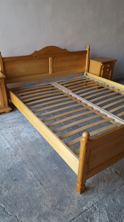 łóżko Sosnowe 180x200 Sypialnia Sosnowa 7483211577