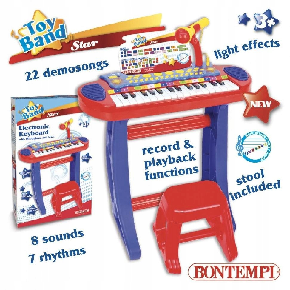 BONTEMPI Star Organy elektroniczne ze stołkiem i