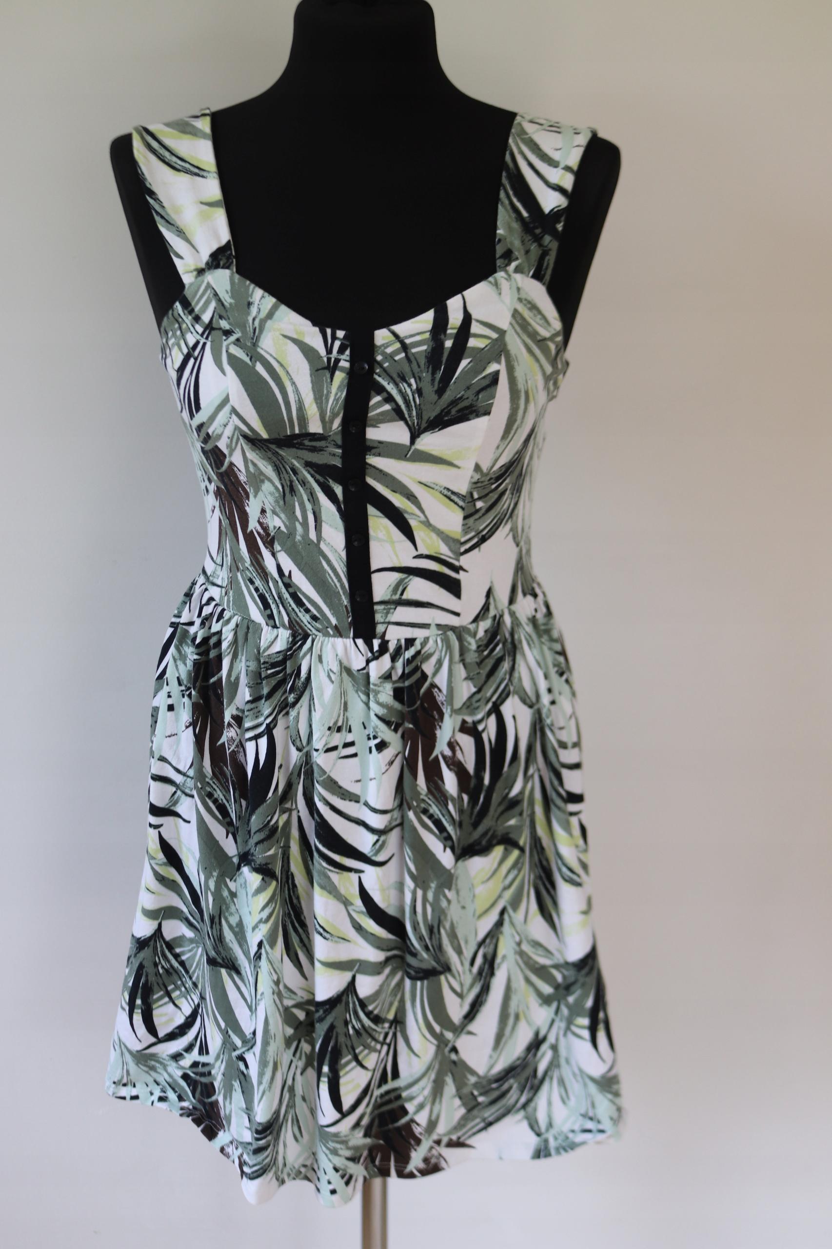 Zielona wzorzysta sukienka Dorothy Perkins S