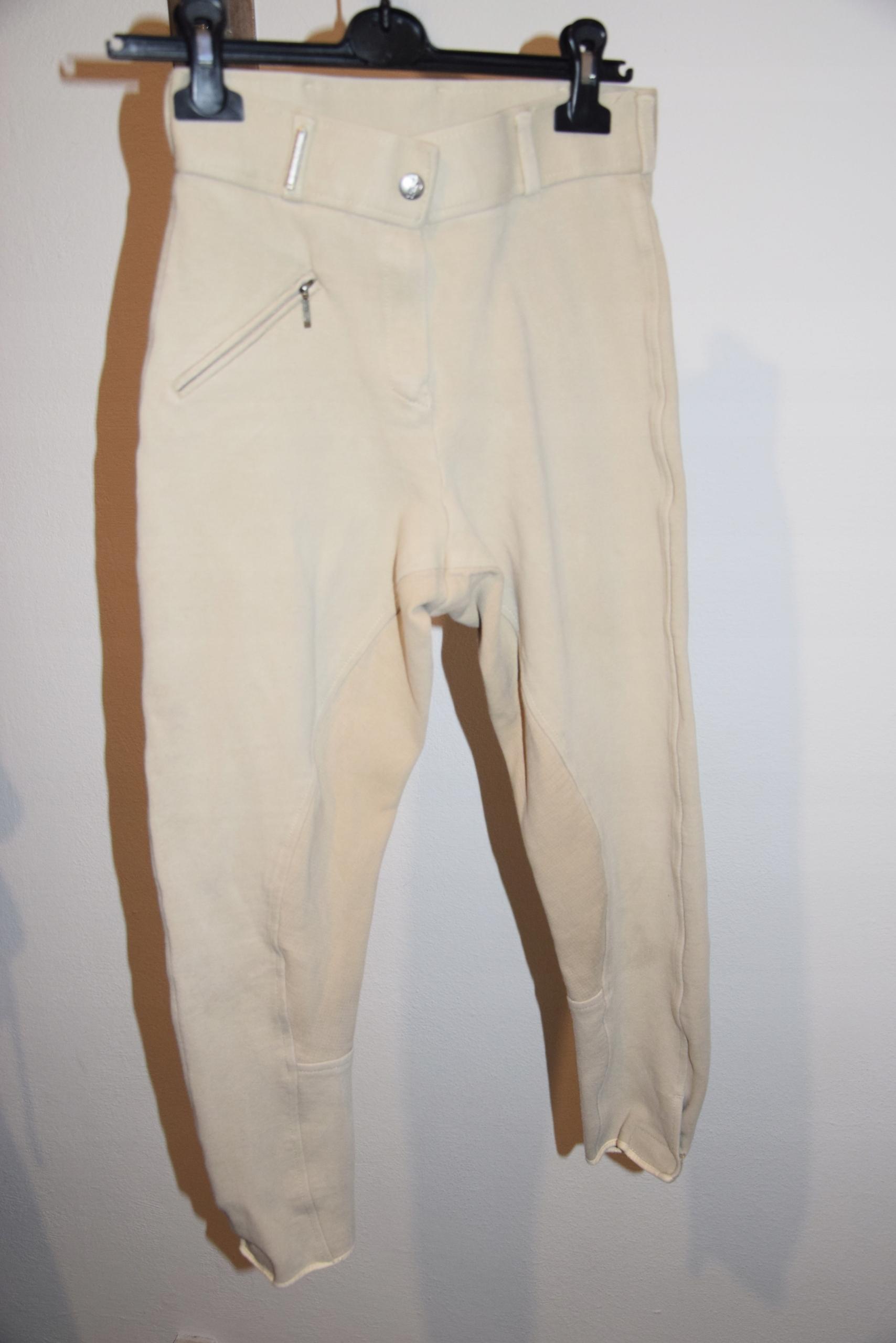 Caldene spodnie do jazdy konnej bryczesy beż M