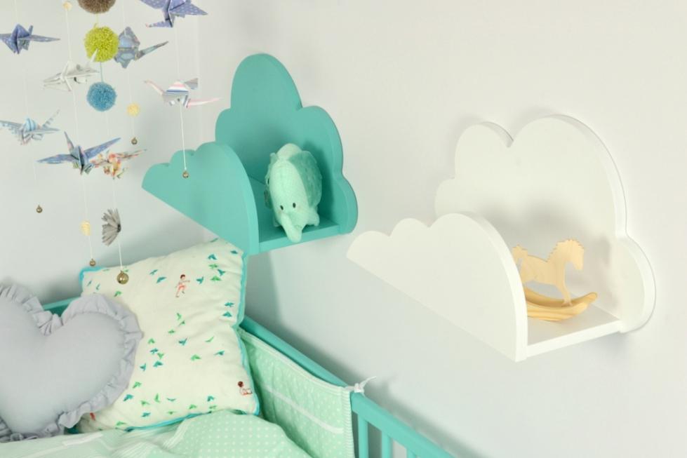 Półka Do Pokoju Dziecięcego Chmurka Biała 7003049181