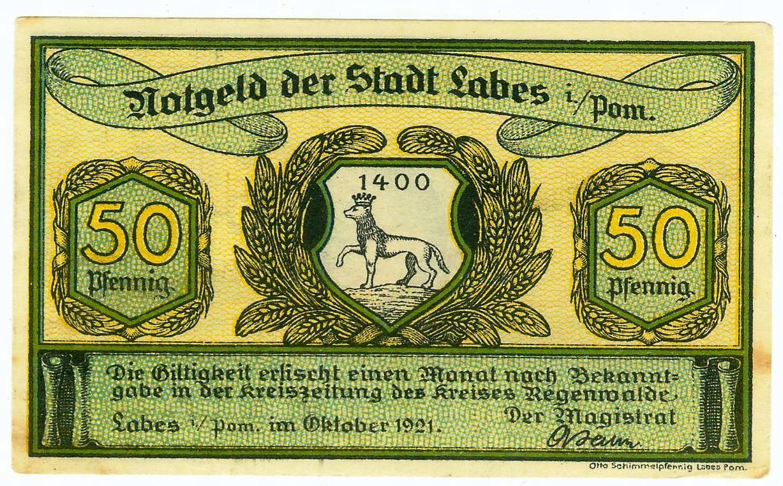 ŁOBEZ 50 FENIGÓW X.1921 - idealny !!!