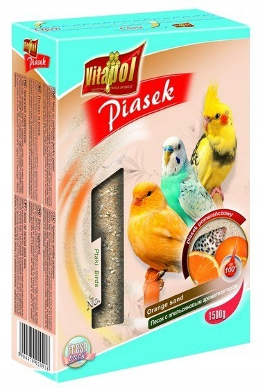 Vitapol Piasek dla ptaków pomarańczowy 1,5kg [2091