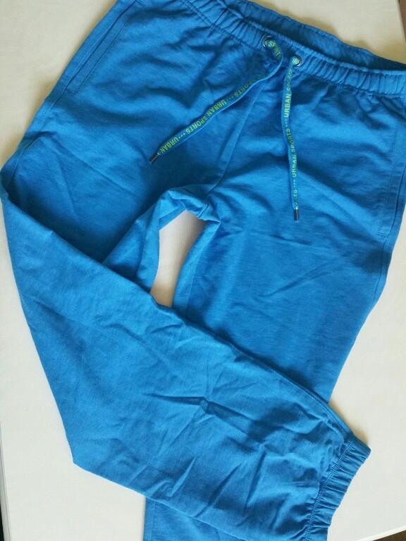Spodnie joggersy dresowe bawełniane 42/44