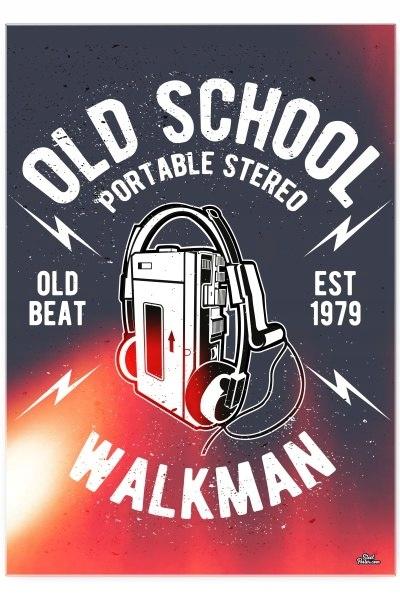 Blacha dekoracyjna / ozdobna Walkman : Rozmiar: -