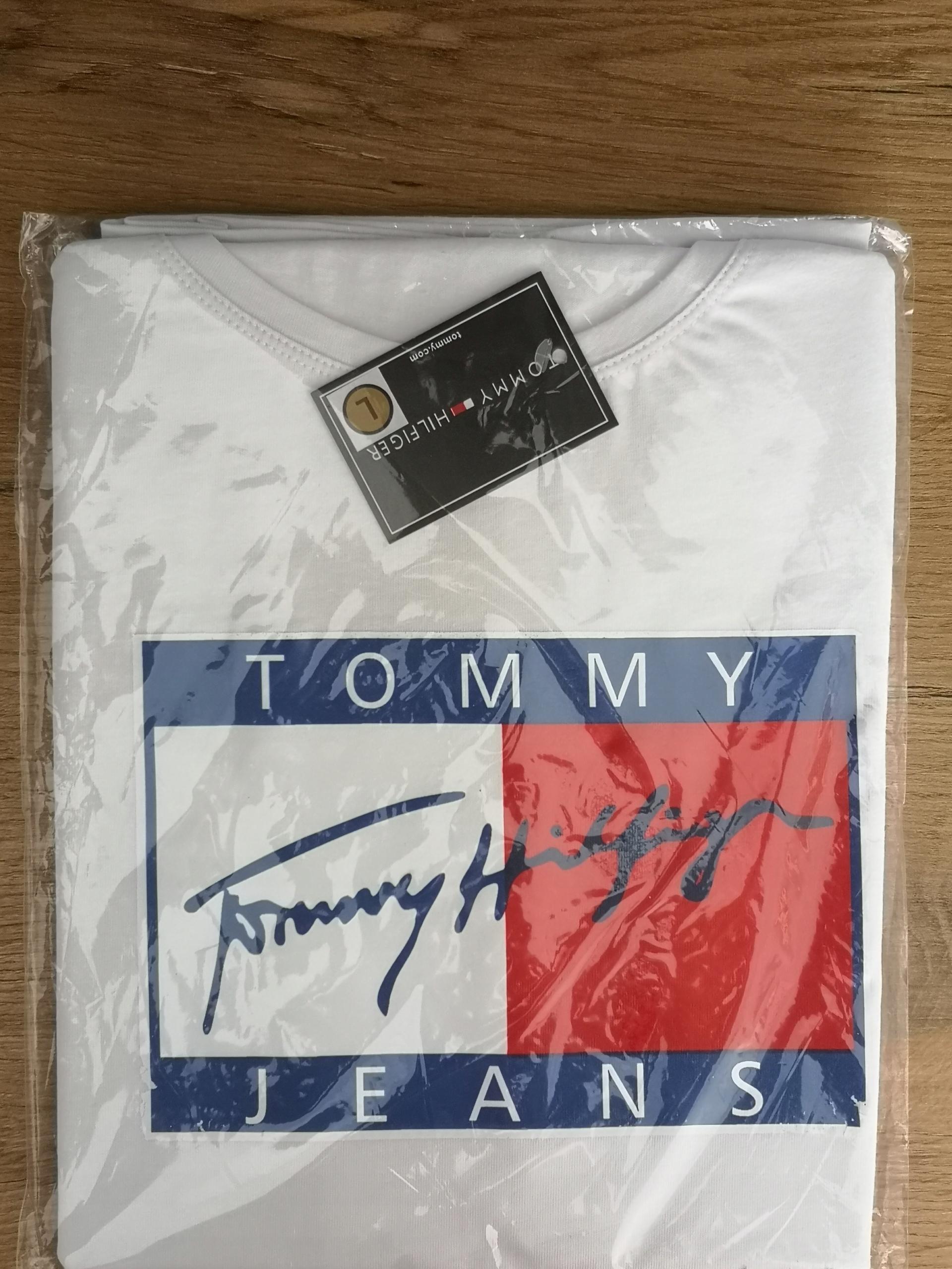 T-shirt damski L TOMMY HILFIGER