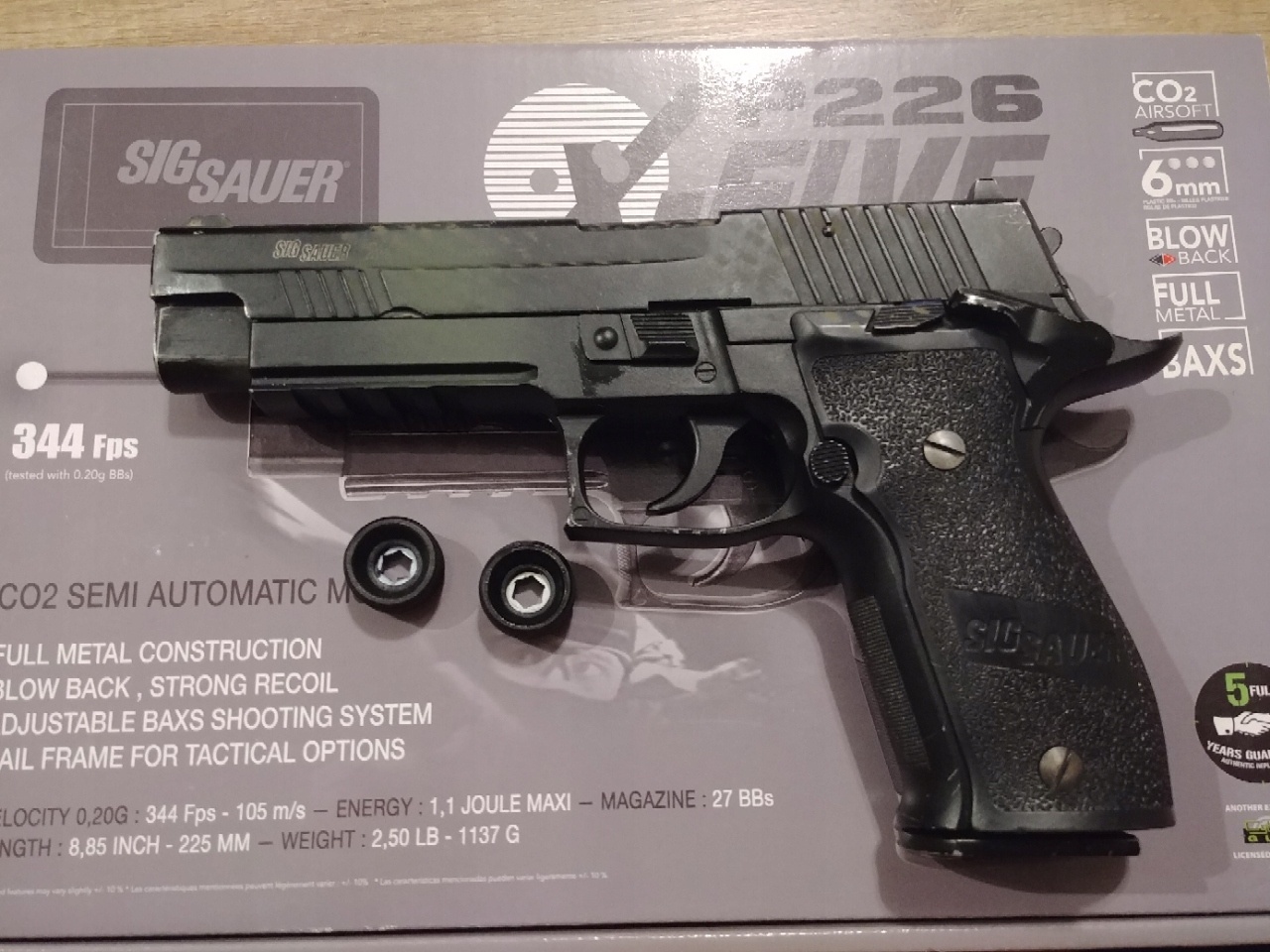 SIG SAUER P226 FUL METAL CO2