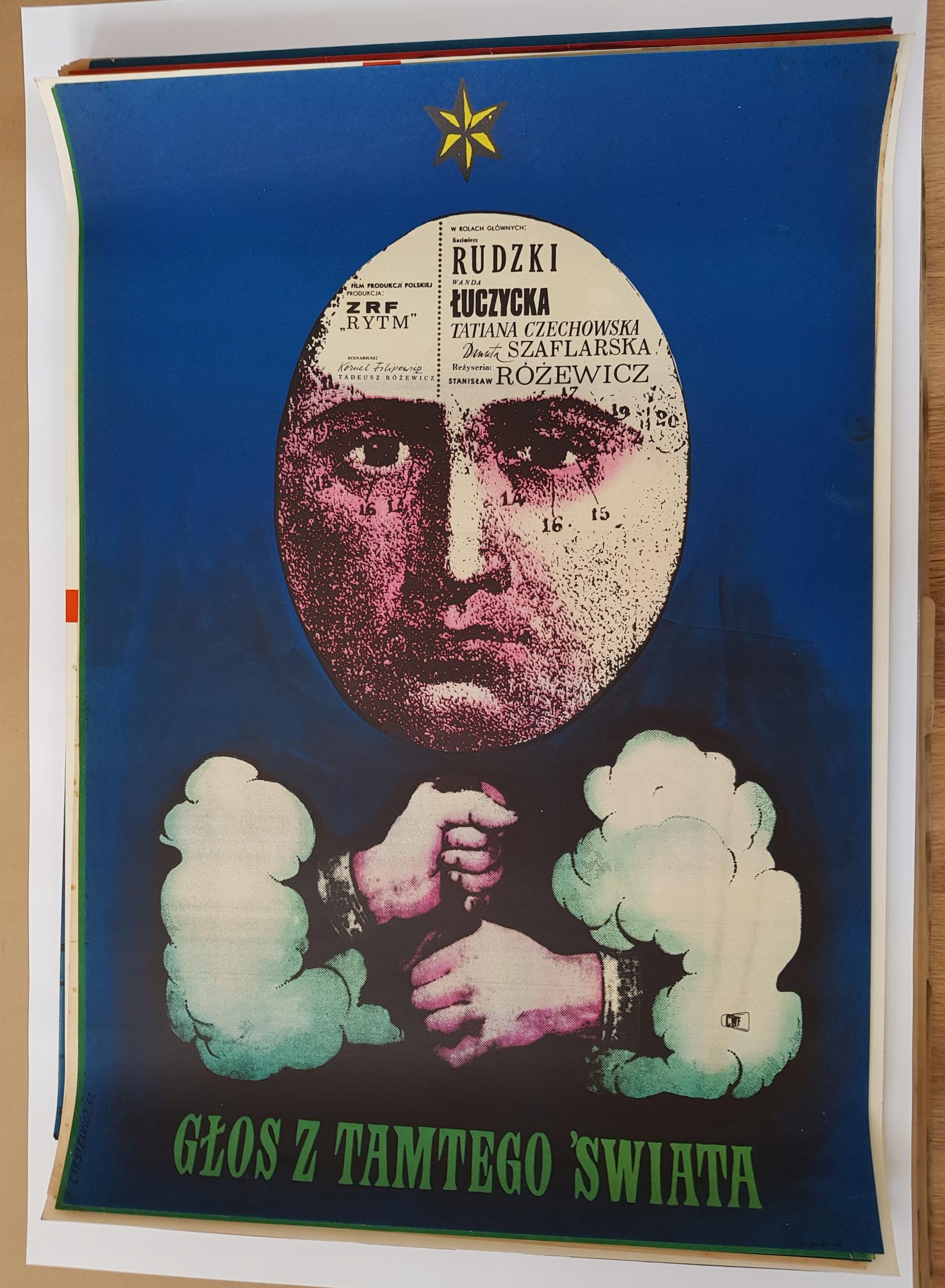 Plakat GŁOS Z TAMTEGO ŚWIATA Cieślewicz '62
