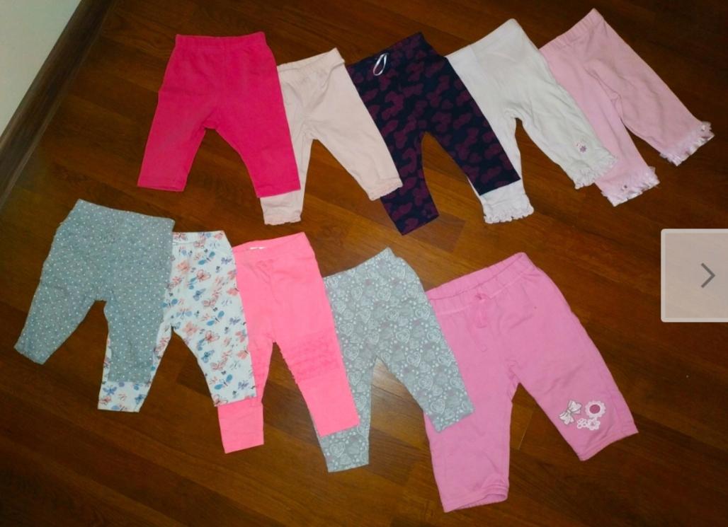 Legginsy dla niemowląt dziewczynka 68cm 3-6m