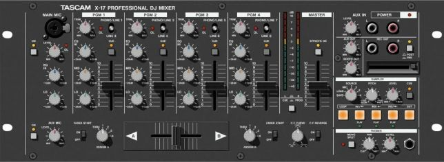 Mixer Tascam X-17 mikser z samplerem Made in Japan