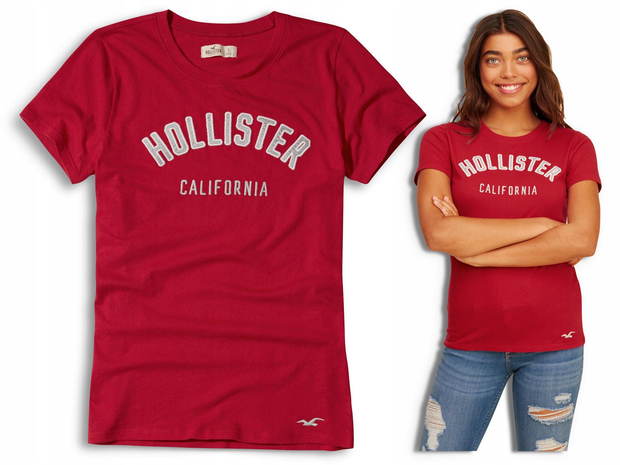 HOLLISTER by Abercrombie T-shirt Damski Logo USA M