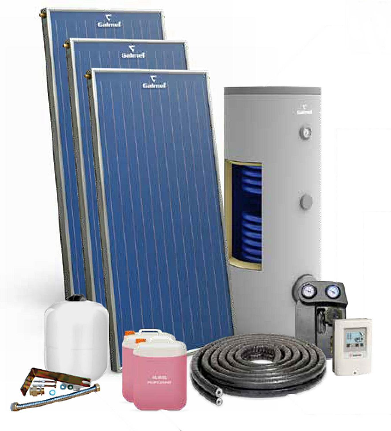 Zestaw solarny GALMET premium plus 3 solary + 300l