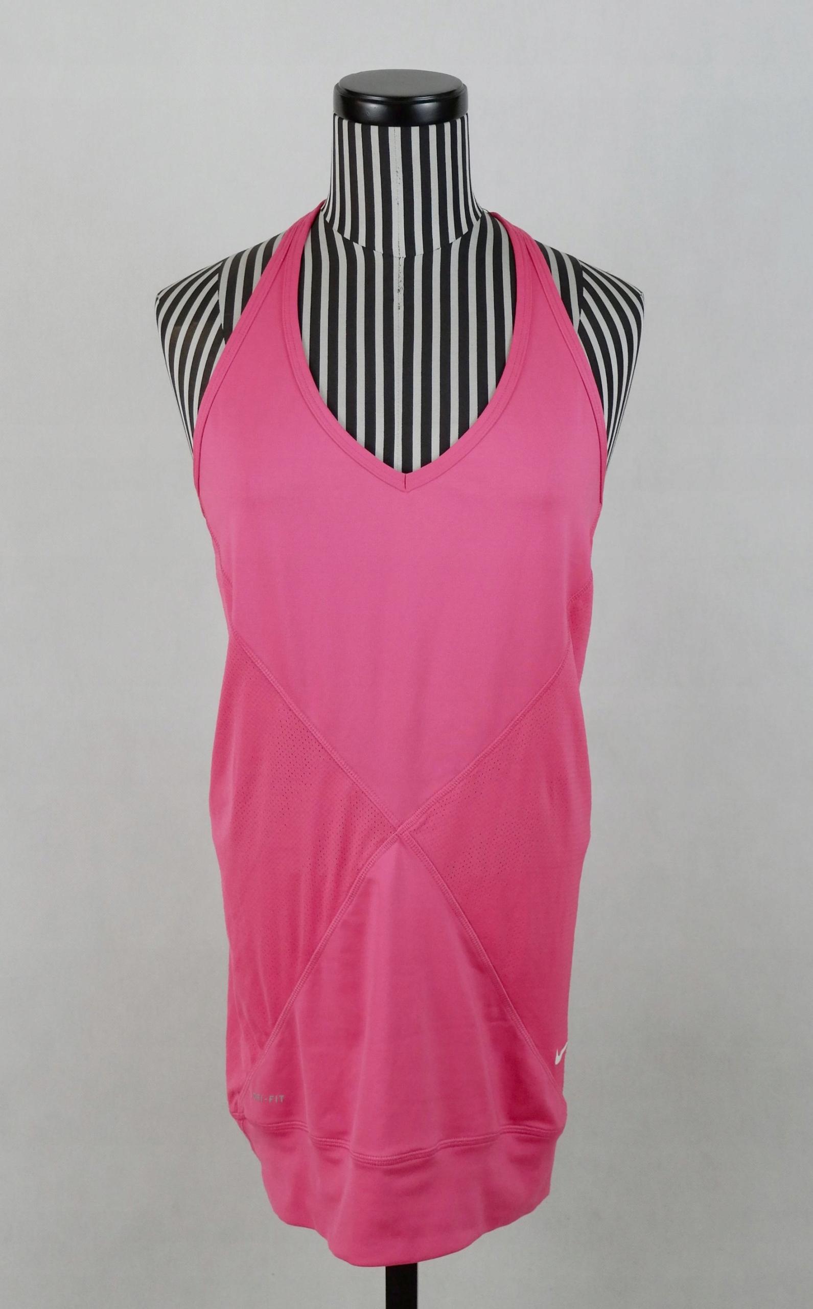 NIKE koszulka top bokserka DRI FIT różowa S