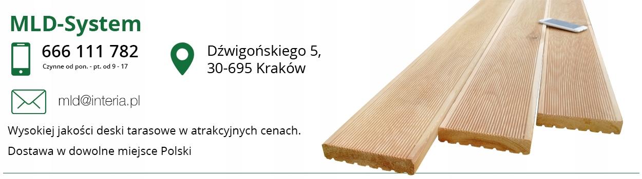 Deska Tarasowa Modrzew Syberyjski Kraków Od Ręki