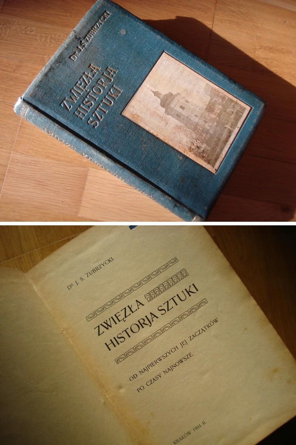 ZUBRZYCKIEGO HISTORJA SZTUKI Z 1904 ROKU