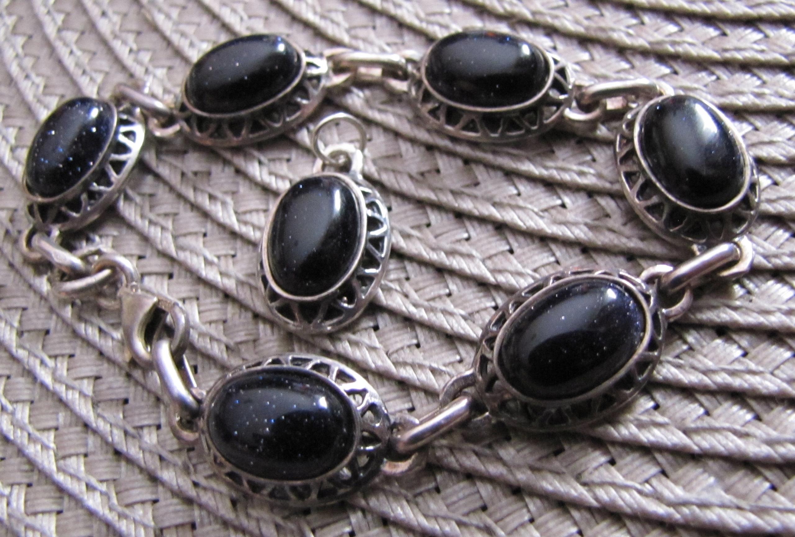 srebrna biżuteria Noc Kairu bransoletka wisiorek