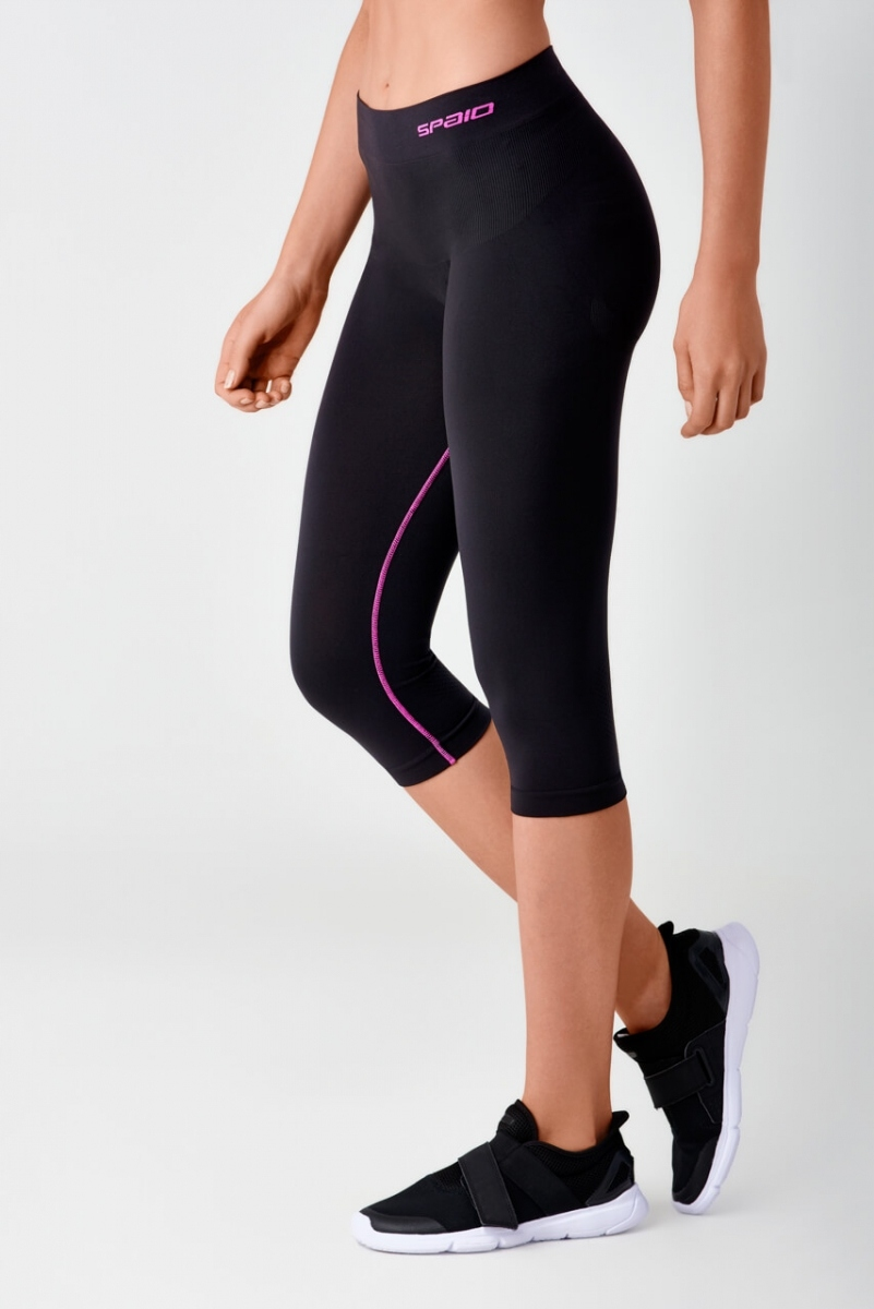 SPAIO FITNESS Spodnie leginsy 3/4 damskie L/XL