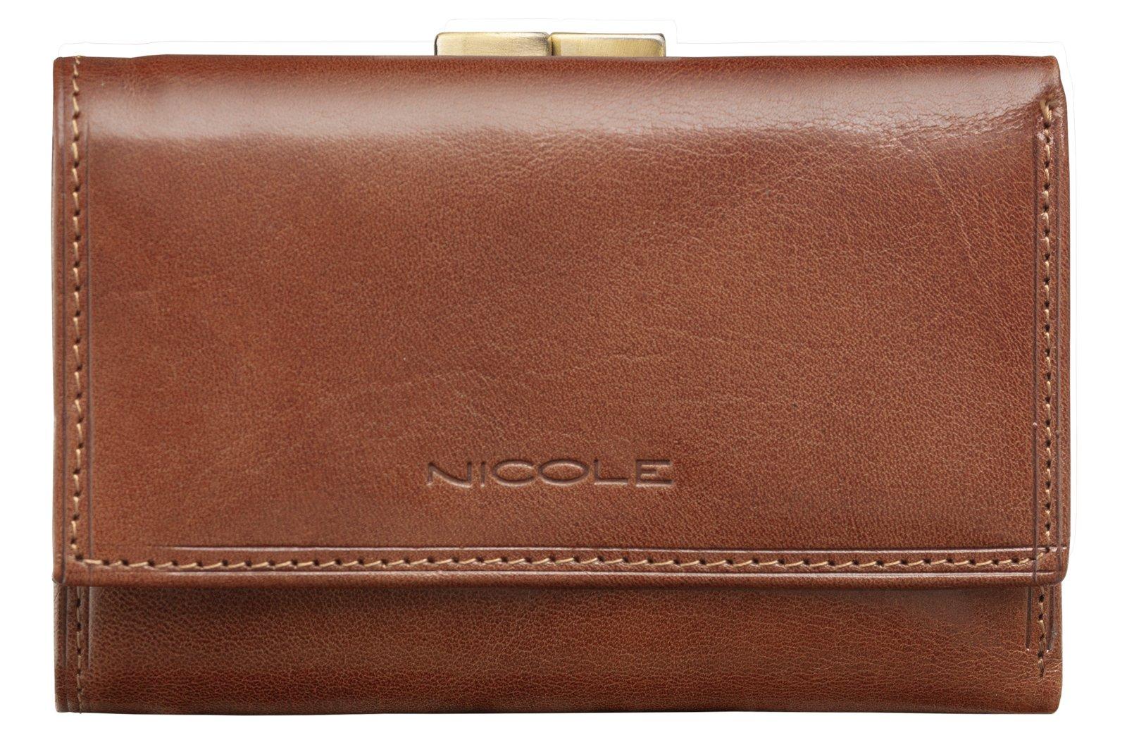 6cd1c31514cd0 Mały skórzany portfel damski NICOLE włoska skóra - 7070927441 ...