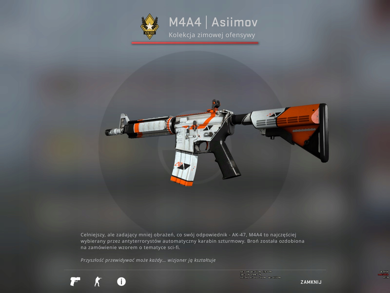 Counter-Strike: Global Offensive: M4A4 Asiimov BS