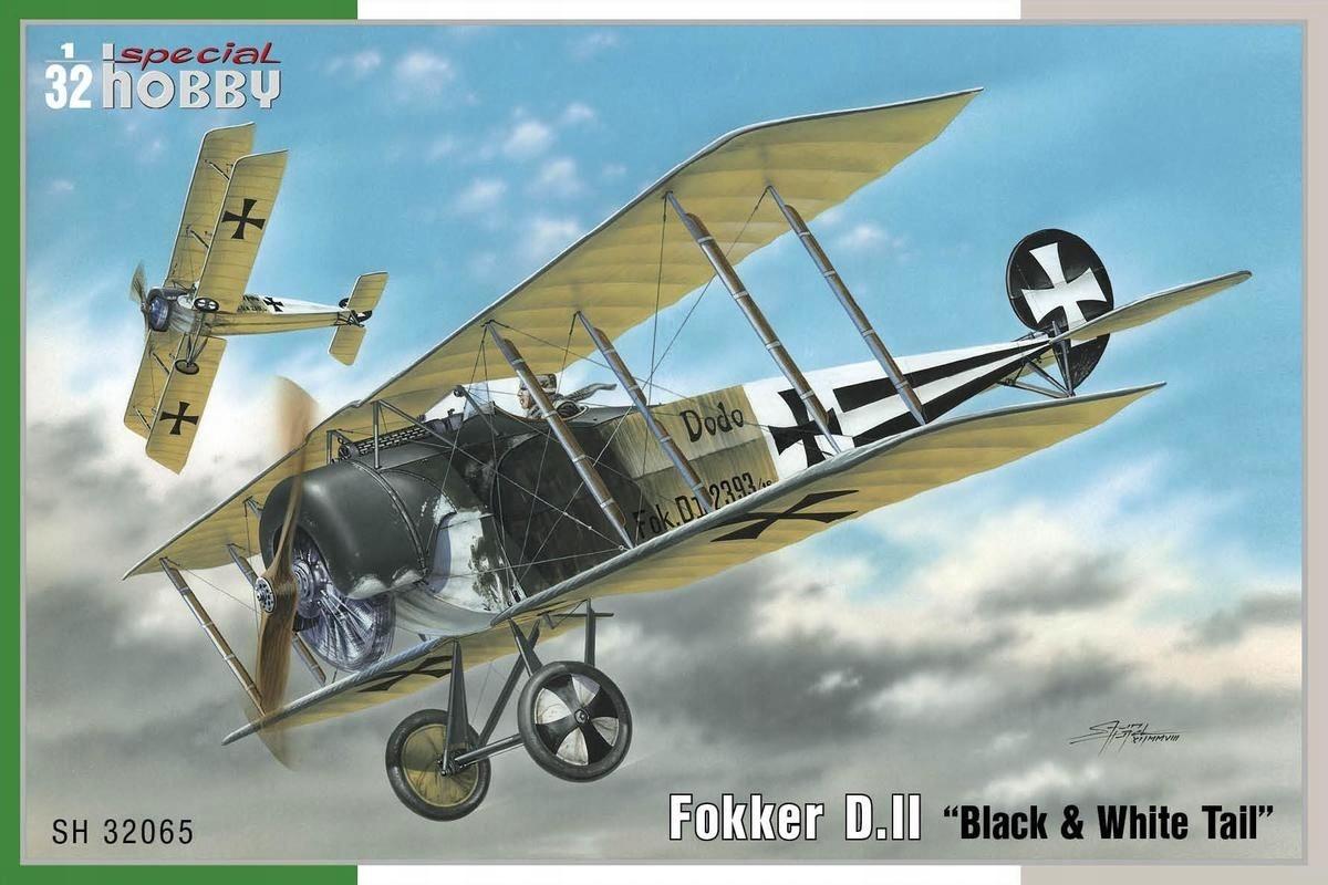 SPECIAL HOBBY 32065 1:32 Fokker D. II Black White