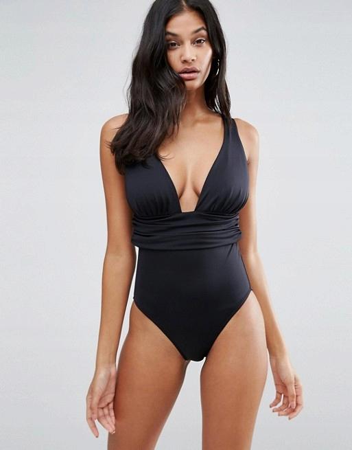 3691 markowy czarny strój kąpielowy Gathared M