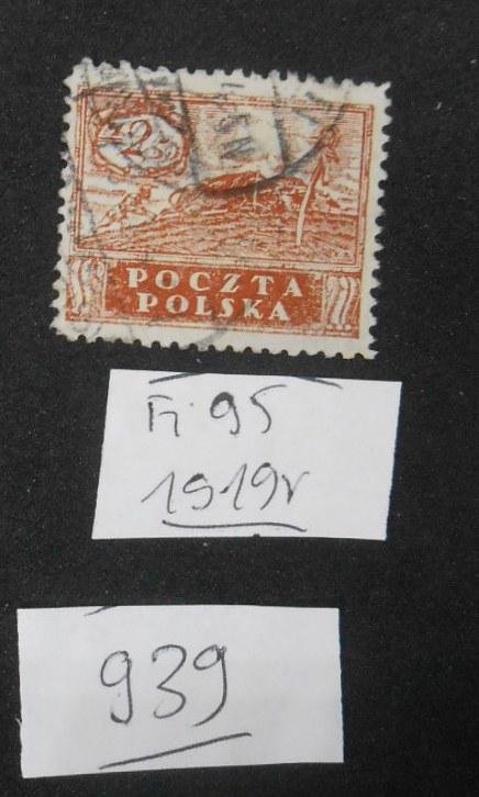 939 Polska, Fi 95, 1919 r kasowane,
